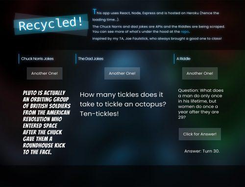 Recycled – Random jokes using React.js