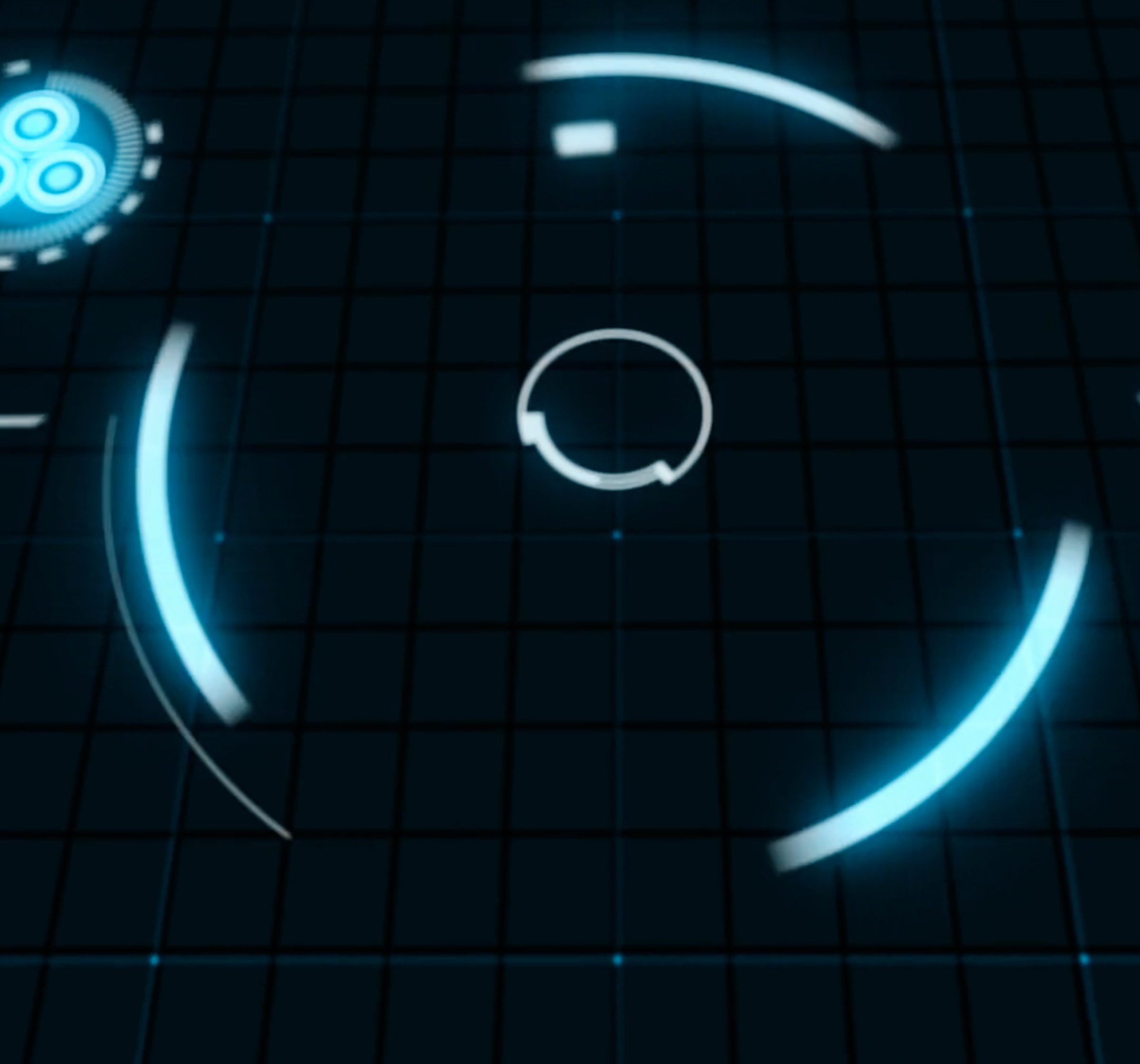 Heads Up Display being revealed in animation
