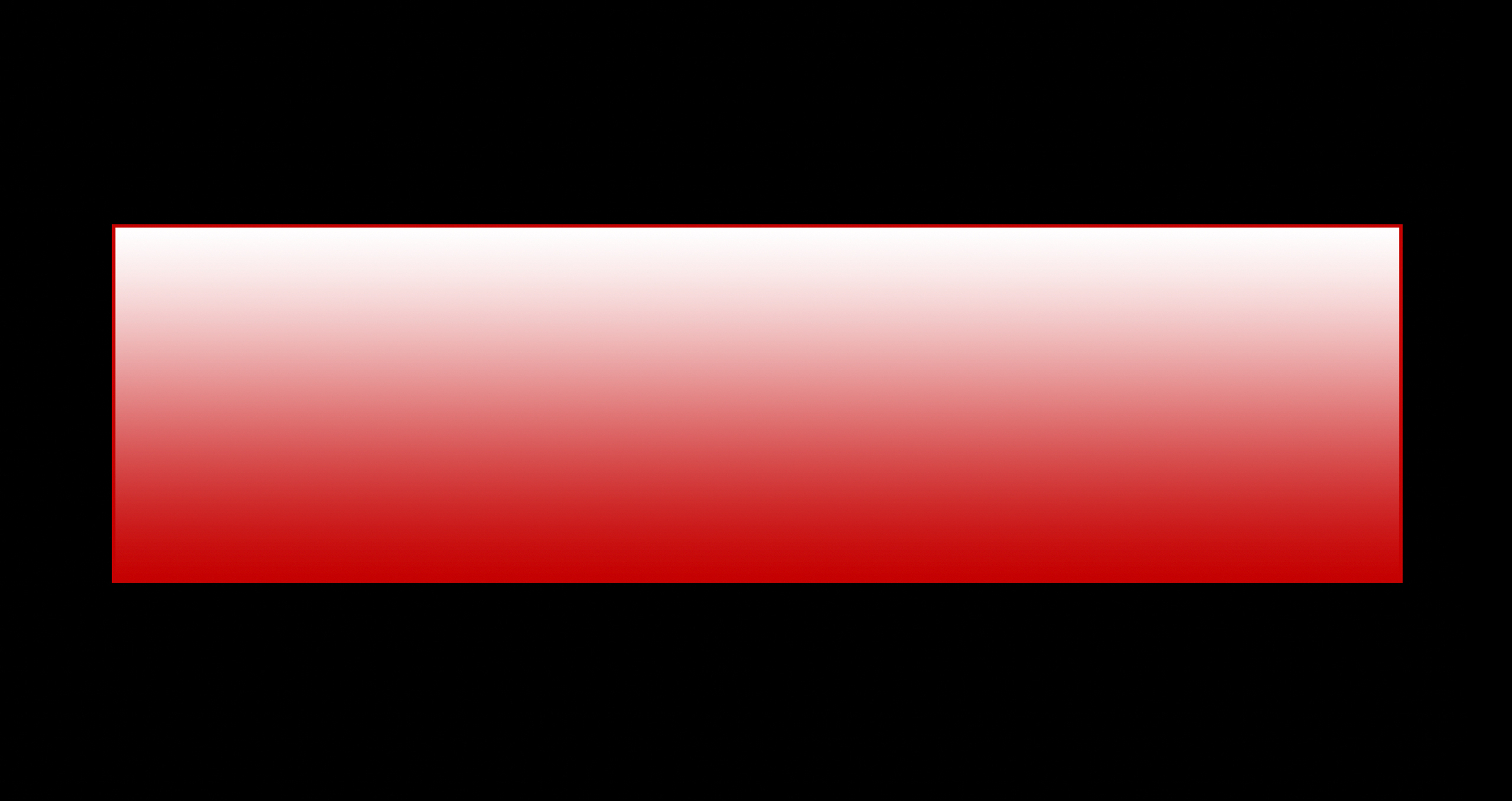 Red rectangle with semi transparent white gradient overlay that has edges trimmed